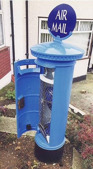 A rare Air Mail box in original colour scheme,...