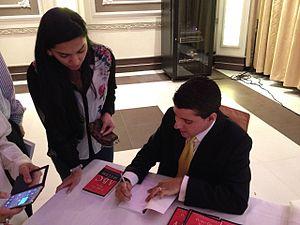 Pedro De Abreu - De Abreu at a book signing in Dubai