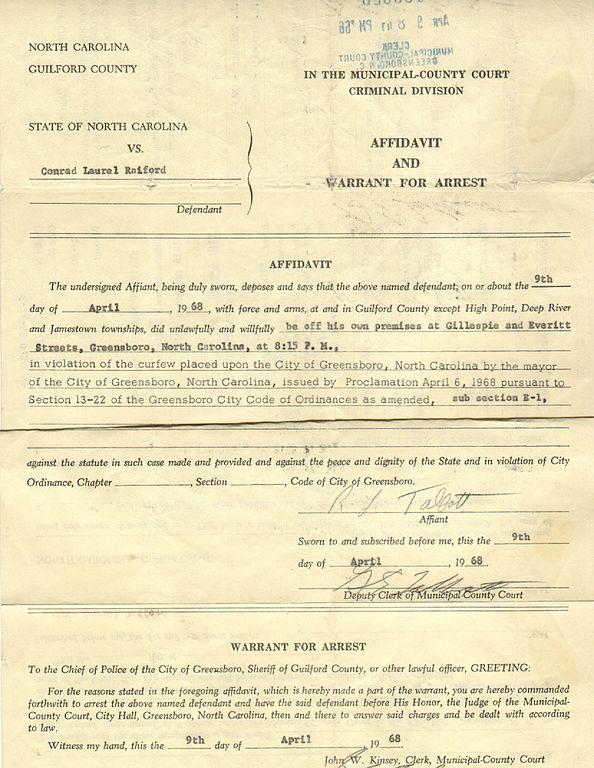 File:Raiford arrest warrant jpg - Wikipedia