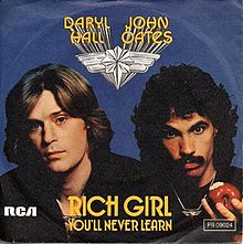 Image result for HALL AND OATES RICH GIRL IMAGES