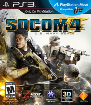 SOCOM 4 U.S. Navy SEALs - North American cover art