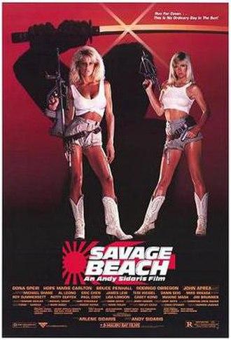 Savage Beach - Promotional film poster