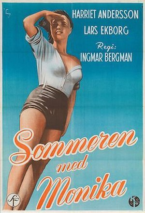 Summer with Monika - Original Swedish film poster