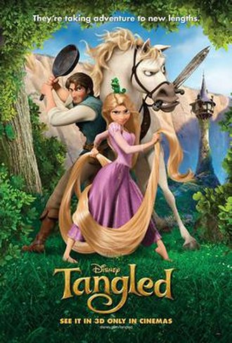 Tangled - Theatrical release poster