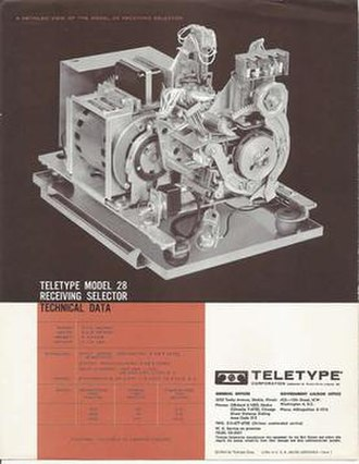 Teletype Model 28 - The Teletype Corporation Model 28 Receiving Selector