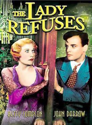 The Lady Refuses - DVD cover for the film