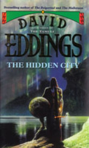 "The Tamuli - The front cover of a 1996 Voyager edition of ""The Hidden City""."