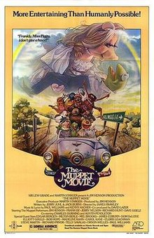 The poster for The Muppet Movie.