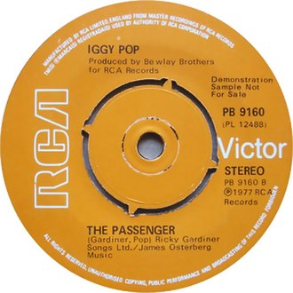 The Passenger (song) - Image: The Passenger (song)