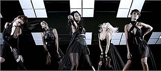 "All Fired Up (The Saturdays song) - The Saturdays in the music video for ""All Fired Up"""