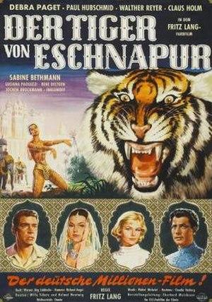 The Tiger of Eschnapur (1959 film) - German film poster