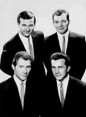 The Crickets - The Crickets in 1962:  Sonny Curtis, Jerry Allison, Glen Hardin, Jerry Naylor