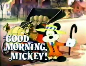 Good Morning, Mickey! - The title card for Good Morning, Mickey!