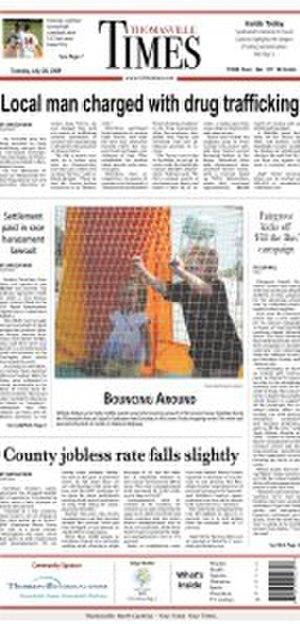 Thomasville Times - Image: Tvilletimes