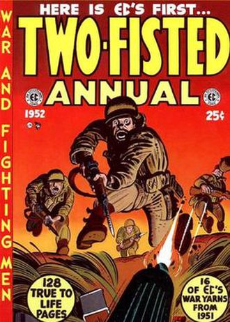 Two-Fisted Tales - Two-Fisted Annual (1952). Cover art by Harvey Kurtzman.