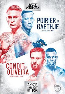 UFC on Fox: Poirier vs. Gaethje UFC mixed martial arts event in 2018