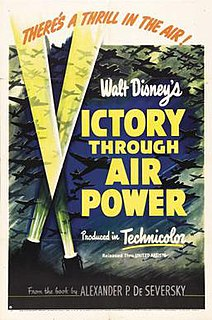 <i>Victory Through Air Power</i> (film) 1943 US partly-animated Disney film