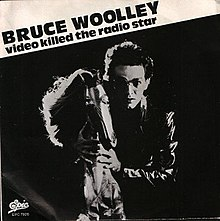 "Bruce Woolley behind a horse, with the text ""Bruce Woolley Video Killed the Radio Star"" on the top left"