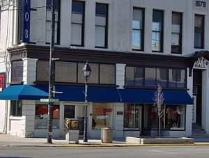 WFOB - WFOB and WBVI studios and offices, at 101 North Main Street, Fostoria