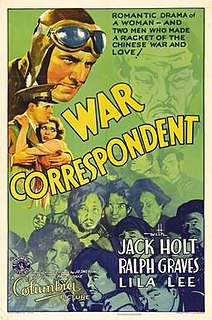 <i>War Correspondent</i> (film) 1932 film directed by Paul Sloane