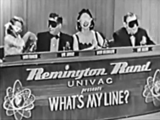 What's My Line? - Blindfolds on for a mystery guest