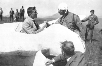 Wolfgang Klemperer - in Blaue Maus glider 1923 with Anthony Fokker