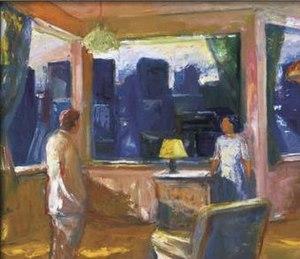 Elmer Bischoff - Elmer Bischoff, Yellow Lampshade, 1969, De Young Museum, San Francisco