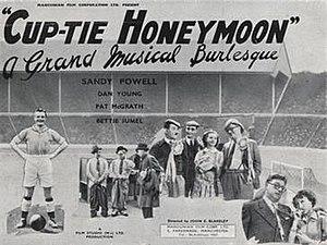 """Cup-tie Honeymoon - Image: """"Cup Tie Honeymoon"""" (1948)"""