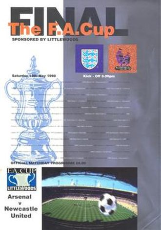 1998 FA Cup Final - The match programme cover