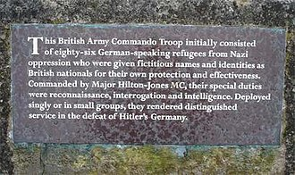 No. 10 (Inter-Allied) Commando - Memorial to the members of No.3 (Jewish) Troop in Penhelig Park, Aberdovey.