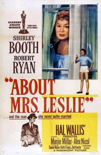About Mrs. Leslie - 1954 Theatrical Poster
