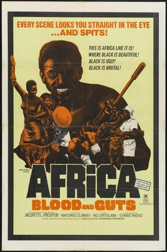 Africa Addio - 1970 United States theatrical release poster, bearing the title Africa Blood and Guts