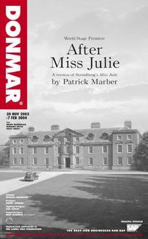 After Miss Julie - After Miss Julie Original West End Production Poster