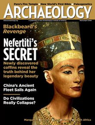 Archaeology (magazine) - March/April 2008 cover of Archaeology