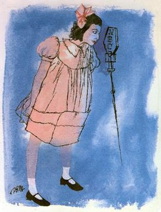 "The Big Show (NBC Radio) - David Stone Martin's illustration was used by NBC to promote Fanny Brice's ""Baby Snooks"" character. She was a guest on the second installment of The Big Show (November 12, 1950)."