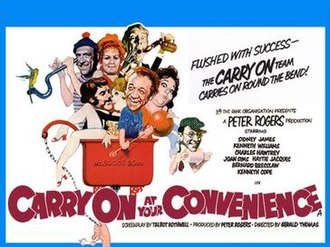 Carry On at Your Convenience - Original UK quad poster by Renato Fratini