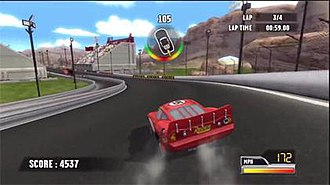 Cars Race-O-Rama - In Race-O-Rama players control Lightning McQueen in races set throughout the Cars universe.