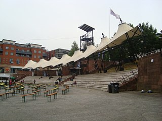 Castlefield Bowl outdoor event area in Manchester