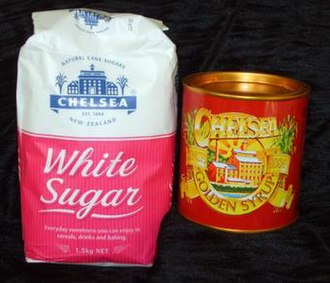 Chelsea Sugar Refinery - The current Golden Syrup tin displays an illustration of the 19th-century refinery, a design reflected in the company logo shown on the White Sugar packaging.