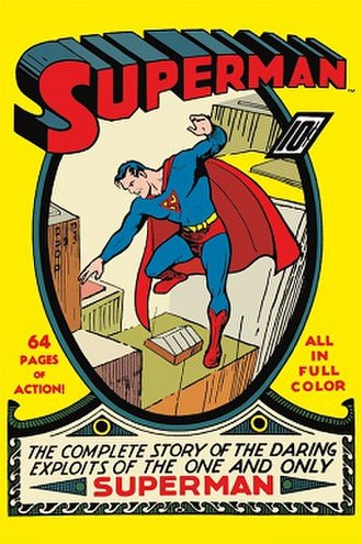 Superman (comic book) - Image: Cover of Superman Comic 1st Edition Summer 1939