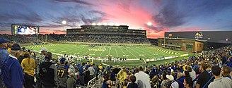 South Dakota State Jackrabbits football - Dana J. Dykhouse Stadium  – named for university benefactor and former football player Dana J. Dykhouse.