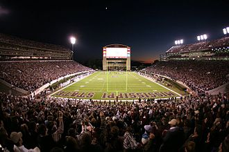 Mississippi State University - Davis Wade Stadium at its record-setting capacity of 58,103 against Alabama