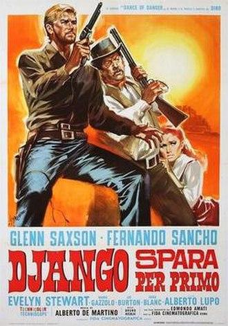 Django Shoots First - Image: Django spara per primo italian movie poster md