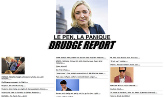 Drudge Report Online news link repository, run by Matt Drudge