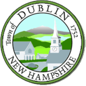 Dublin, New Hampshire - Church and rotary in the town center