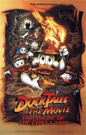 DuckTales the Movie: Treasure of the Lost Lamp - Theatrical release poster, parodying Indiana Jones