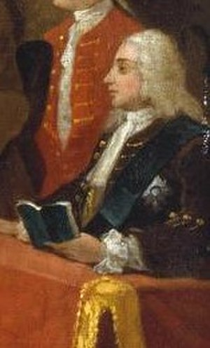 Charles Powlett, 3rd Duke of Bolton - Duke of Bolton, detail from William Hogarth's Beggar's Opera, 1731.