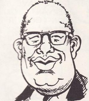 E. Nelson Bridwell - Caricature of E. Nelson Bridwell by Dave Manak (c. 1976).