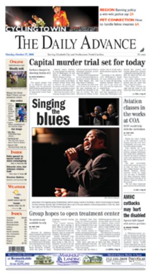 Elizabeth City Daily Advance - Image: Elizabeth City Daily Advance fp