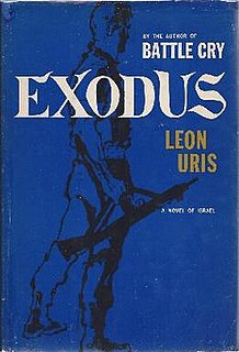 <i>Exodus</i> (Uris novel) Novel by Leon Uris